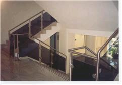 edelstahl glas treppengel nder. Black Bedroom Furniture Sets. Home Design Ideas